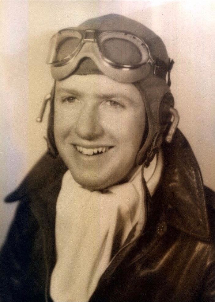Ed as a young pilot
