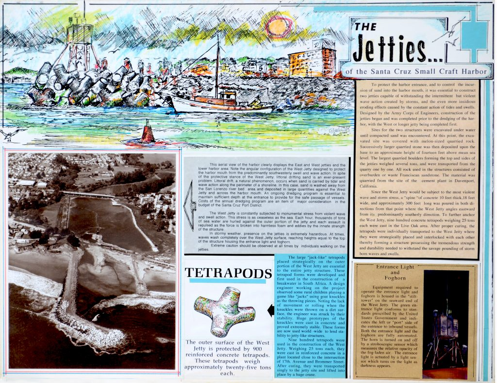 Ed Larson's artwork on the Jetties