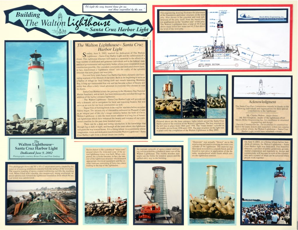 Ed Larson's artwork on the Walton Lighthouse